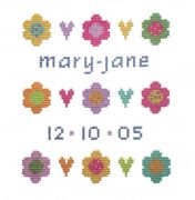 Stitching Shed Daisy Sampler Birth Sampler Cross Stitch Kit