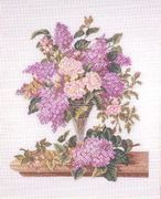 Eva Rosenstand Buddleia and Roses - Aida Cross Stitch Kit