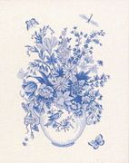 Eva Rosenstand Floral Study in Blue Cross Stitch Kit