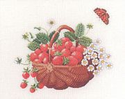 Eva Rosenstand Basket of Strawberries Cross Stitch Kit