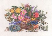Eva Rosenstand Basket of Flowers Cross Stitch Kit