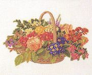 Eva Rosenstand Basket of Blooms Cross Stitch Kit