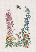 Eva Rosenstand Bee and Flowers Cross Stitch Kit