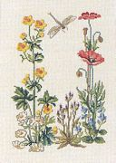 Eva Rosenstand Dragonfly and Flowers Cross Stitch Kit