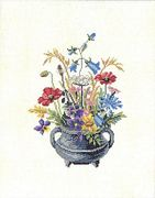 Eva Rosenstand Floral Urn Cross Stitch Kit