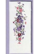 Eva Rosenstand Pink and Lilac Table Runner Cross Stitch Kit