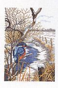 Eva Rosenstand Winter Kingfisher Cross Stitch Kit