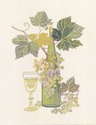 White Wine - Eva Rosenstand Cross Stitch Kit
