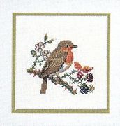 Robin and Blackberries - Eva Rosenstand Cross Stitch Kit