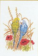 Budgie Love - Eva Rosenstand Cross Stitch Kit