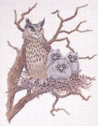 Eagle Owl Nest - Eva Rosenstand Cross Stitch Kit