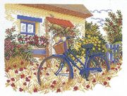 Bicycle Cottage - Aida - Eva Rosenstand Cross Stitch Kit