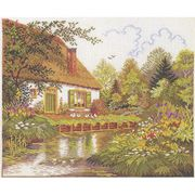 Eva Rosenstand River Cottage - Aida Cross Stitch Kit