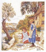 Eva Rosenstand Feeding the Ducks Cross Stitch Kit