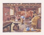 Eva Rosenstand The Blacksmiths Cross Stitch Kit