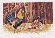 Eva Rosenstand Chicken Family Cross Stitch Kit