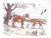Mother and Foal - Eva Rosenstand Cross Stitch Kit