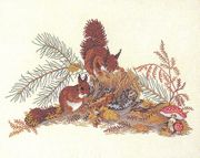 Eva Rosenstand Squirrels Cross Stitch Kit