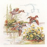 Ducks in Flight - Eva Rosenstand Cross Stitch Kit