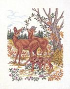 Eva Rosenstand Deer Family Cross Stitch Kit