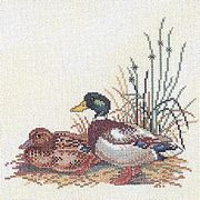 Duck Pair - Eva Rosenstand Cross Stitch Kit