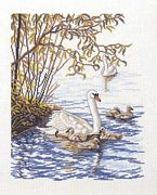 Swan Family - Eva Rosenstand Cross Stitch Kit