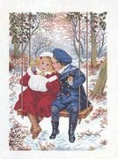Eva Rosenstand Winter Swing - Aida Cross Stitch Kit