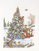 Natures Christmas Tree - Eva Rosenstand Cross Stitch Kit