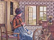 Eva Rosenstand The Knitter Cross Stitch Kit