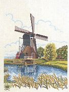 Spring Windmill - Eva Rosenstand Cross Stitch Kit