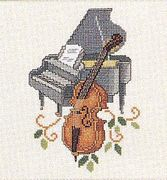 Cello and Piano - Eva Rosenstand Cross Stitch Kit
