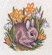 Rabbit and Daffodils - Eva Rosenstand Cross Stitch Kit