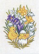 Hatching Chicks - Eva Rosenstand Cross Stitch Kit