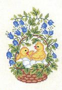 Eva Rosenstand Chicks and Bluebells Cross Stitch Kit