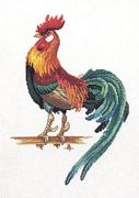 Cockerel - Eva Rosenstand Cross Stitch Kit