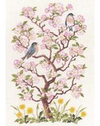 Eva Rosenstand Birds and Blossoms Cross Stitch Kit