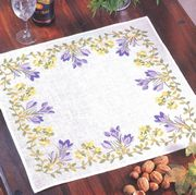 Crocus and Buttercup Tablecloth - Eva Rosenstand Cross Stitch Kit