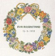 Floral Wreath - Eva Rosenstand Cross Stitch Kit