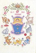 Eva Rosenstand Baby Crib Sampler Birth Sampler Cross Stitch Kit