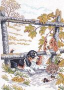 Eva Rosenstand Beagles Cross Stitch Kit