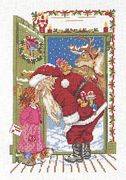 Eva Rosenstand Santas Visit Cross Stitch Kit