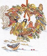 Eva Rosenstand Winter Wreath - Aida Cross Stitch Kit