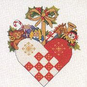 Christmas Heart Decoration - Eva Rosenstand Cross Stitch Kit