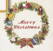 Christmas Decoration Wreath - Eva Rosenstand Cross Stitch Kit
