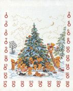 Eva Rosenstand Teddy Tree Advent Calendar Cross Stitch Kit