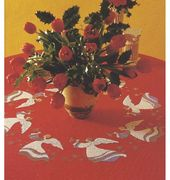 Eva Rosenstand Red Angels Tablecloth Christmas Cross Stitch Kit