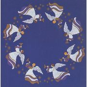 Eva Rosenstand Blue Angels Tablecloth Christmas Cross Stitch Kit