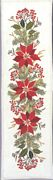 Eva Rosenstand Red Poinsetta Runner Christmas Cross Stitch Kit