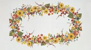 Sunflower Garland Tablecloth - Aida - Eva Rosenstand Cross Stitch Kit
