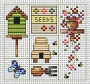 Garden Delights Card Kit - Fat Cat Cross Stitch Kit